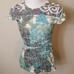 Maurices Ribbed Fancy T Shirt Small